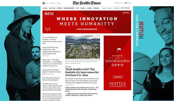 Fundraising Campaign Ad Seattle Times SU