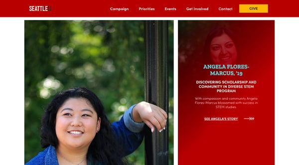 Fundraising Campaign Website Stories SU copy