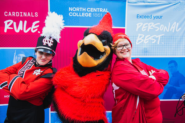 North Central College Chippy the Cardinal